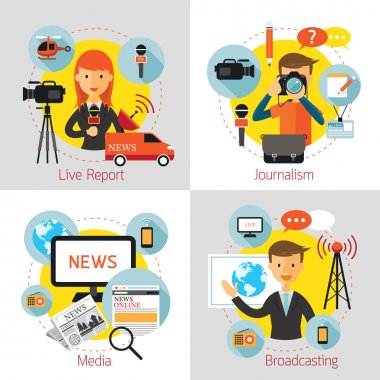 News and Journalism Concept Set