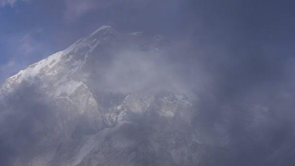 Mount Nuptse Himalaya timelapse
