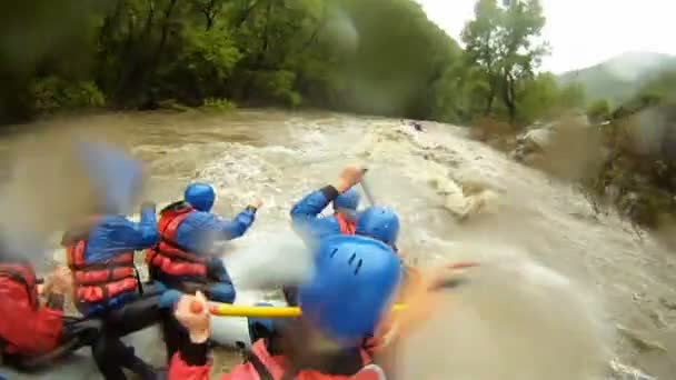Rafting compilation, whitewater rafting as extreme and fun sport