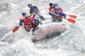 Fotografie River Rafting as extreme and fun sport