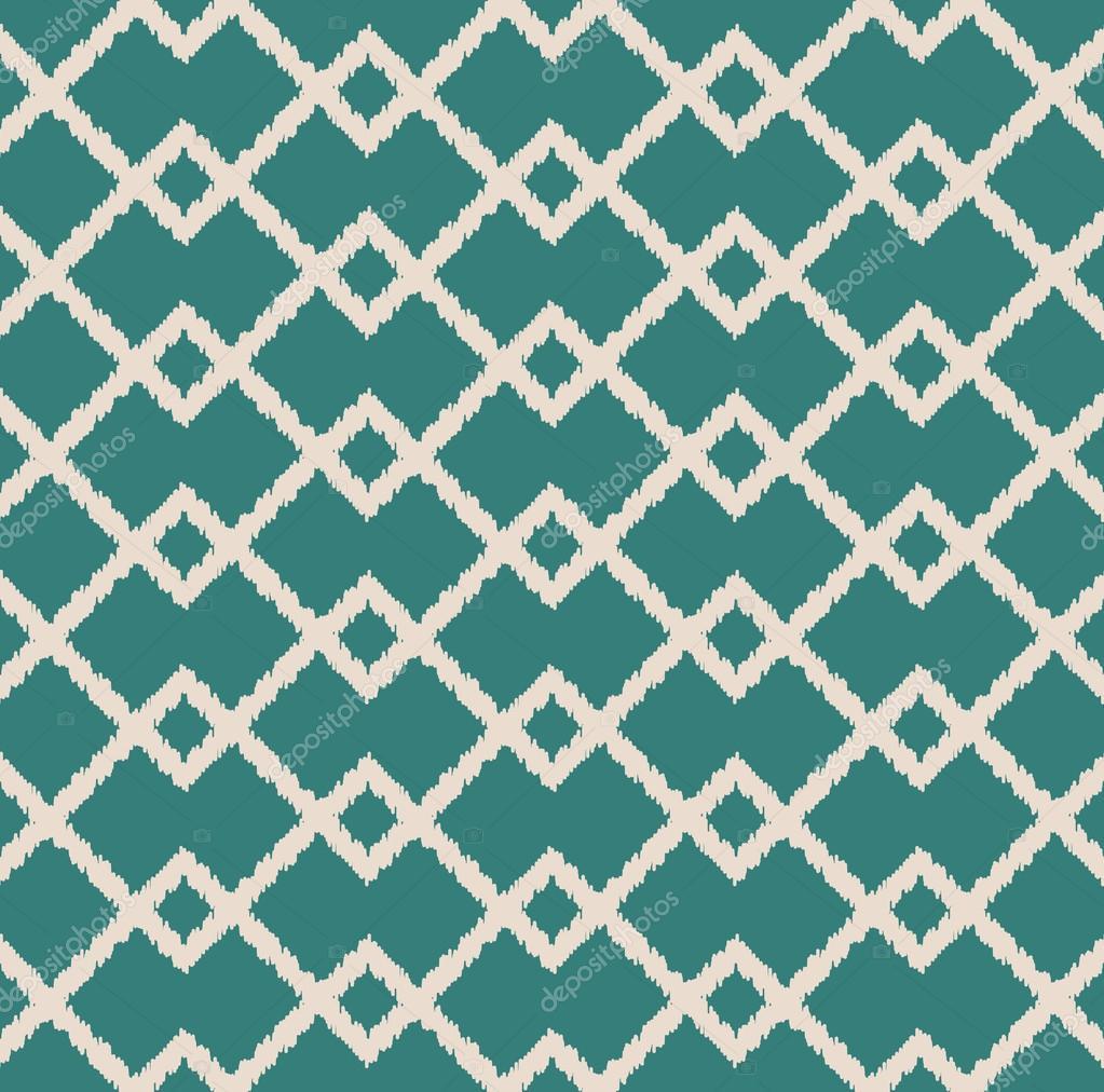 Seamless fabric geometric pattern — Stock Vector