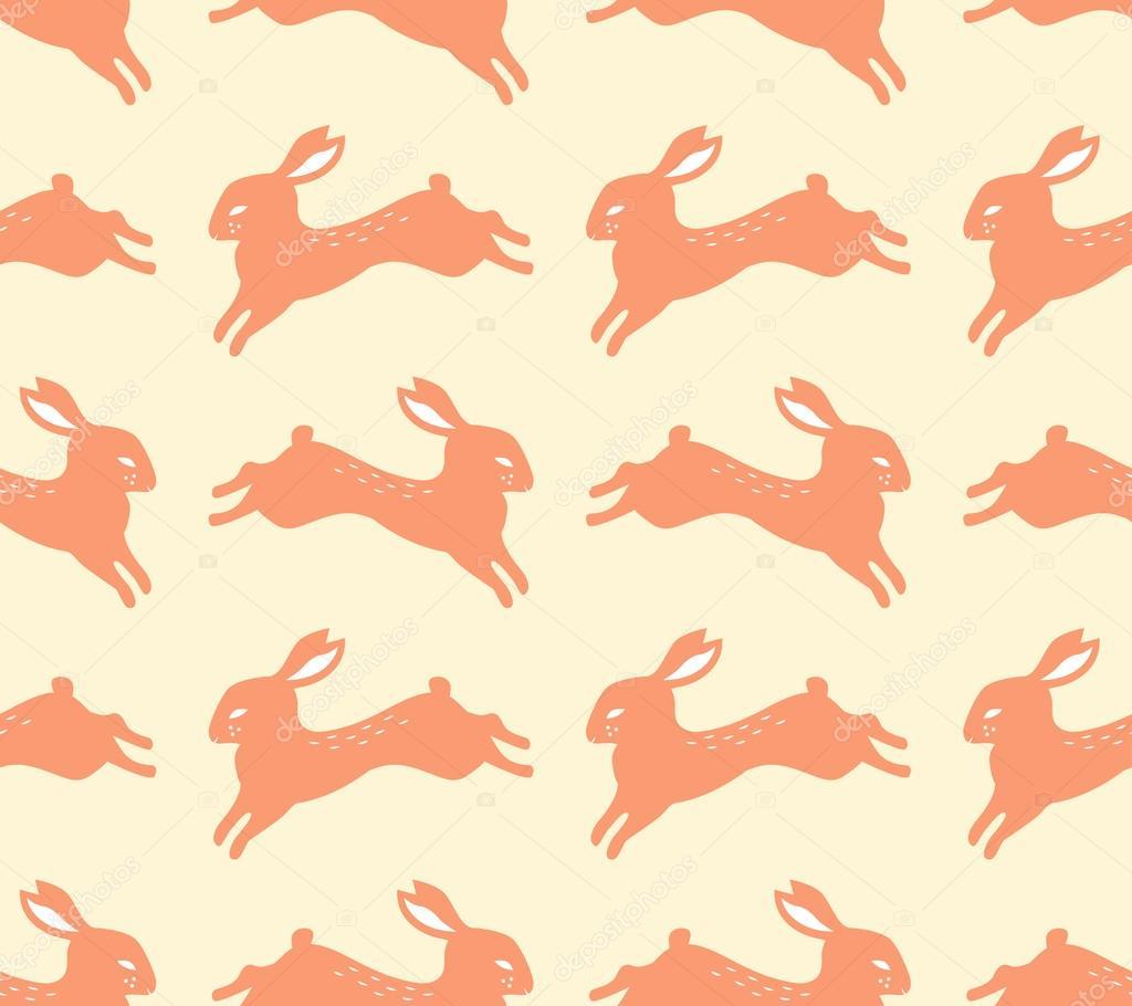 Patrón de silueta de conejo sin costura — Archivo Imágenes ...