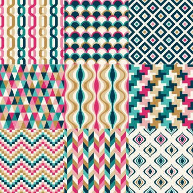 Seamless colorful abstract geometric pattern
