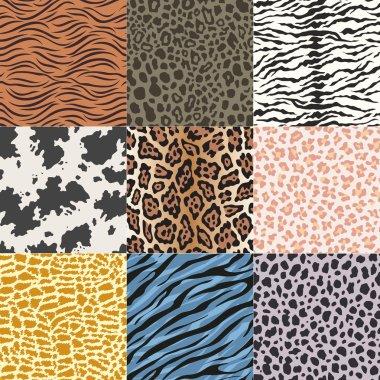 Wild animal skins fabric print