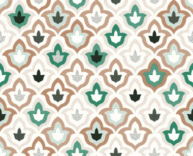 Islamic patchwork abstract pattern