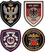 Fotografie Set klassischer heraldischer königlicher Embleme