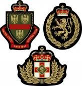 Fotografie Reihe klassische heraldische königliche Wappen