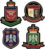 Set klassischer heraldischer königlicher Embleme