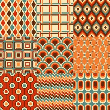 Retro geometric pattern set