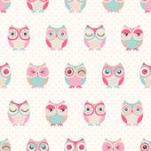 Fotografie seamless owls birds pattern