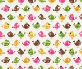 Fotografie nahtlose niedliche Vögel Cartoon Muster