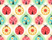 Photo ladybird cartoon pattern