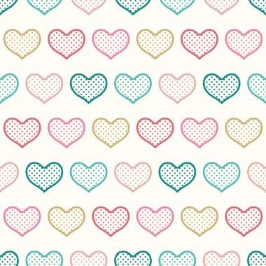Seamless color heart pattern. vector illustration stock vector
