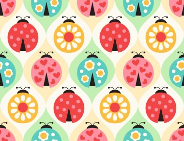 ladybird cartoon pattern
