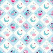 Fotografie nahtlose Cartoon Vögel Muster