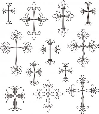 cross  symbols set