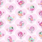 Fotografie Cartoon-Vögel-Muster