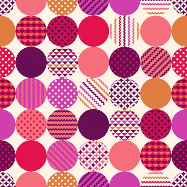 geometric circles with dots pattern