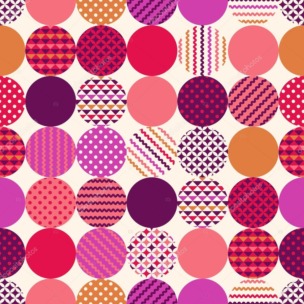 geometric circles with dots pattern