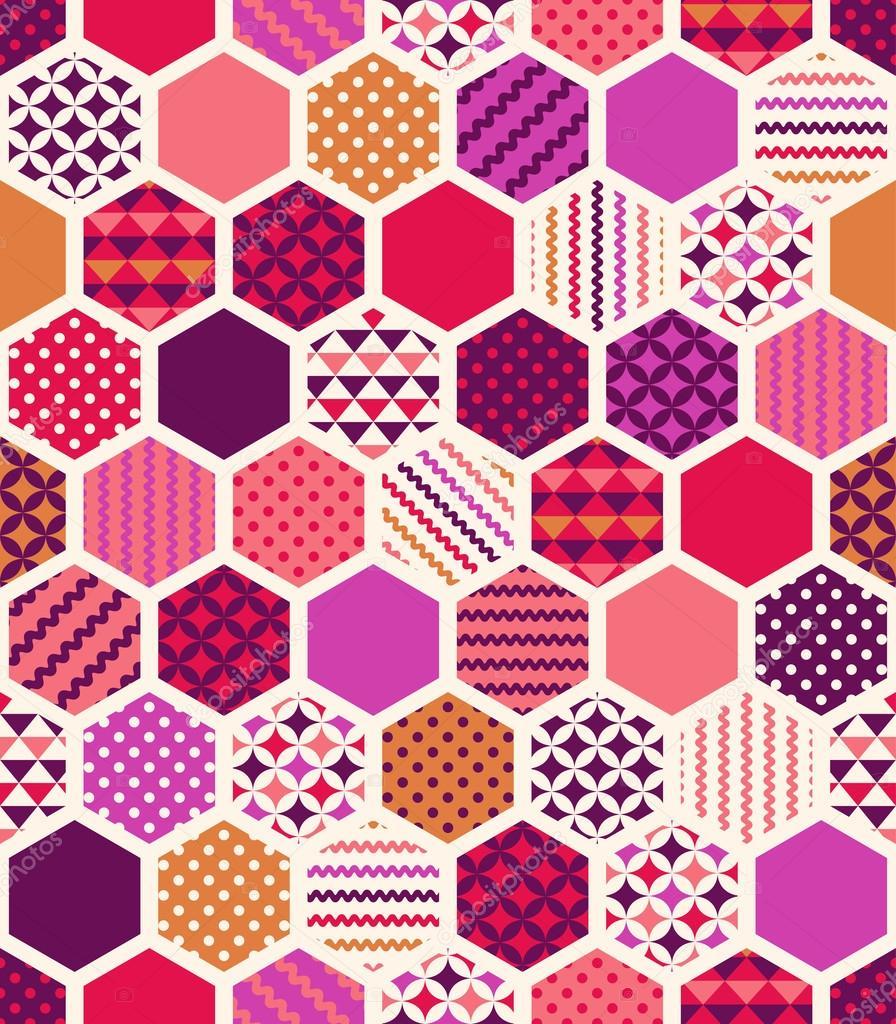 geometric hexagonal honeycoms pattern