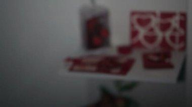 Romantische decoratie van kamer u2014 stockvideo © trekone #120716722