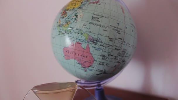 school globe rotates