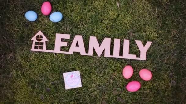 Familie Osterdekoration