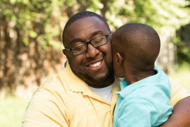 African American father and son