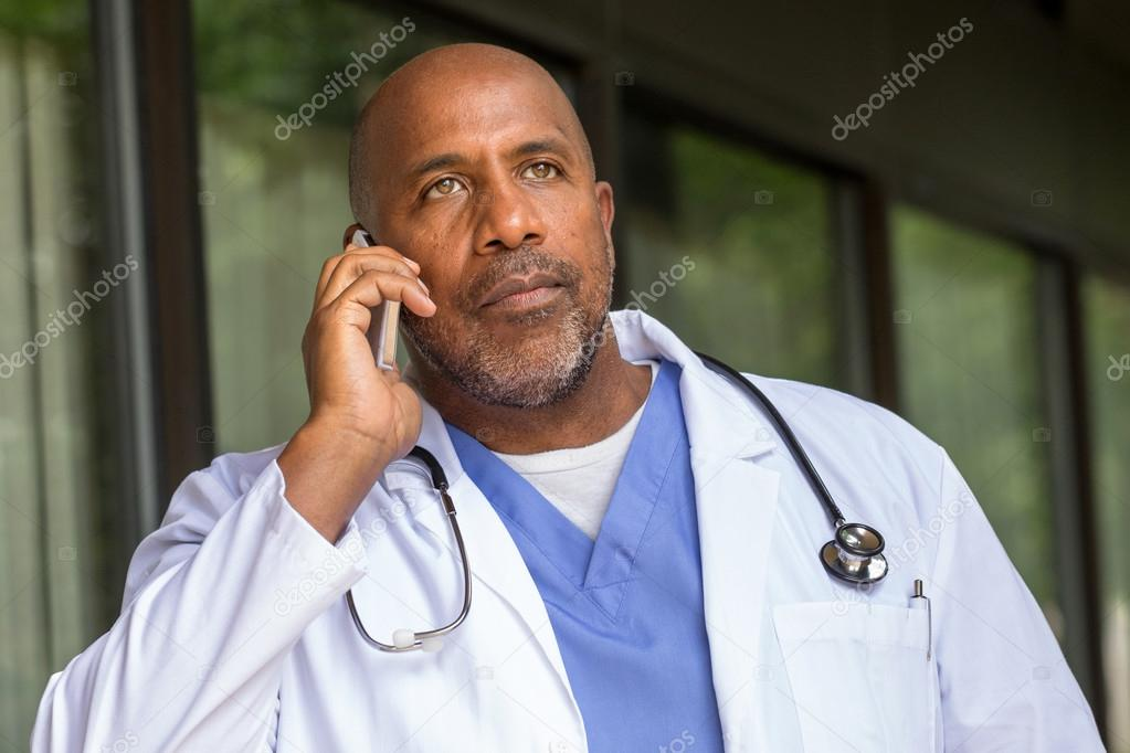Doctor talking with his patient.