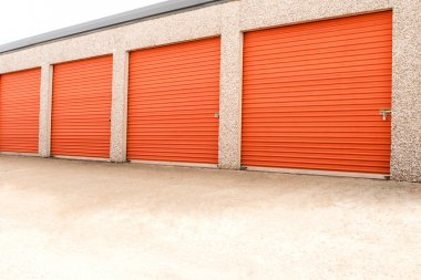 Storage units in a self storage facility.