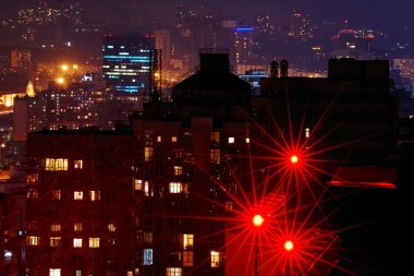 Night Kiev city