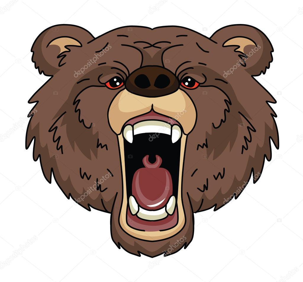 картинка голова медведя за кустом много пальм, есть