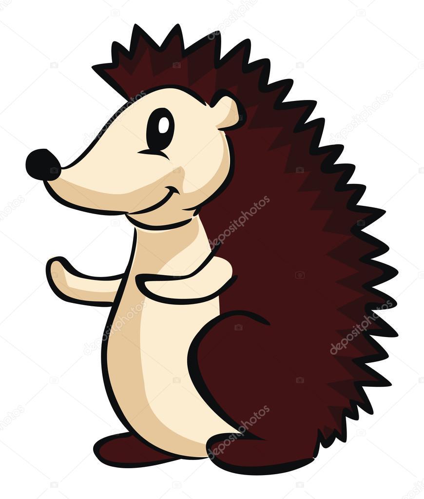 dibujos animados de erizo archivo im u00e1genes vectoriales  u00a9 imazyreams 58432865 Baby Hedgehog clipart of a hedgehog
