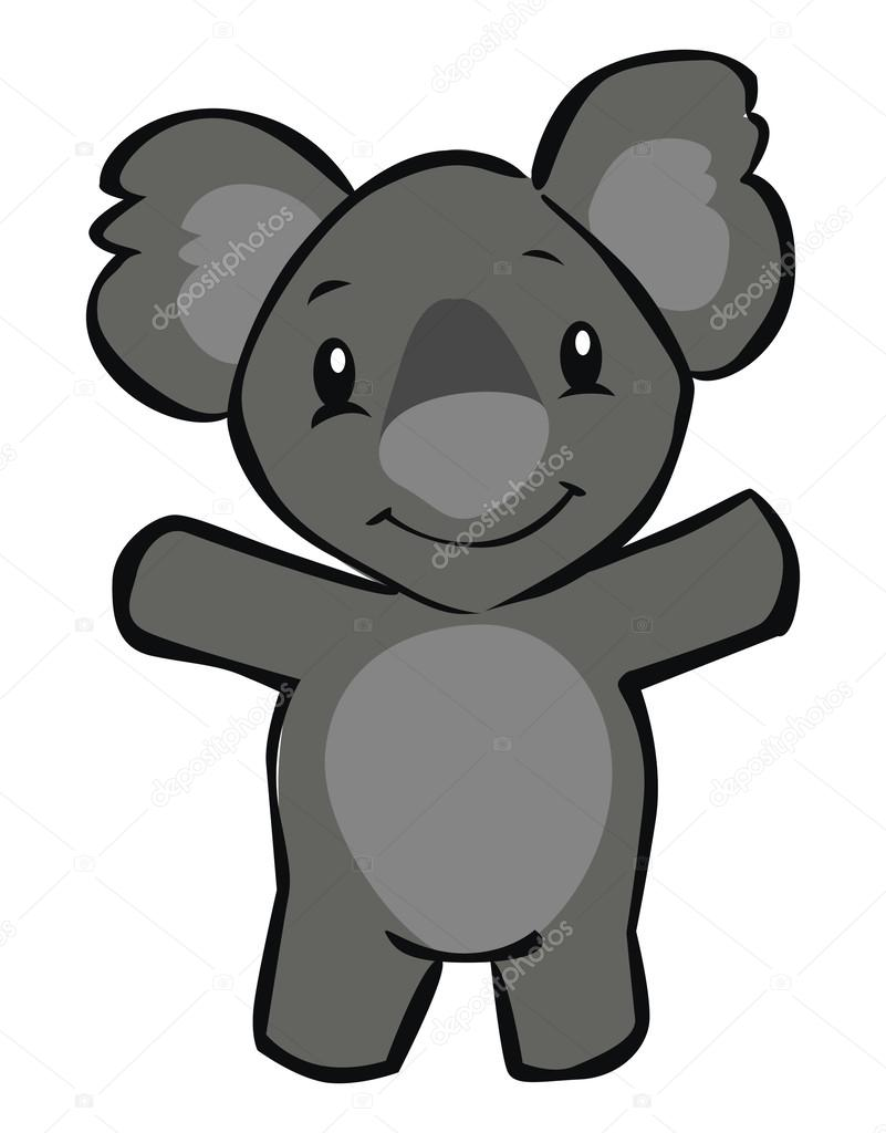 Vettore cartoni koala cartone animato koala u vettoriali stock