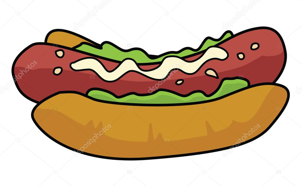 Cartoon Pics Of Hot Dogs