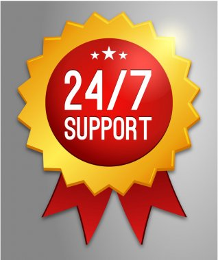 24, 7 support label
