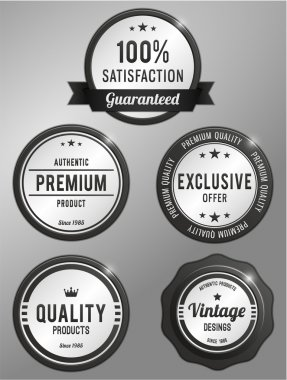 premium quality product labels set