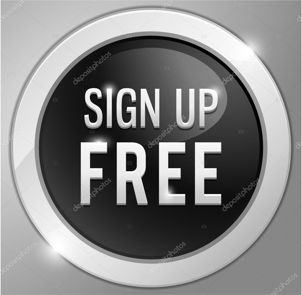 sign up free button, sign