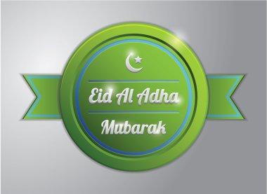 green eid al adha badge