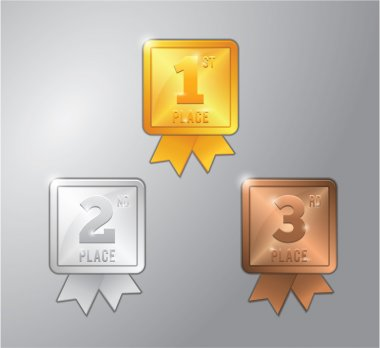 gold, silver and bronze medal for 1,2 and 3 Place winner