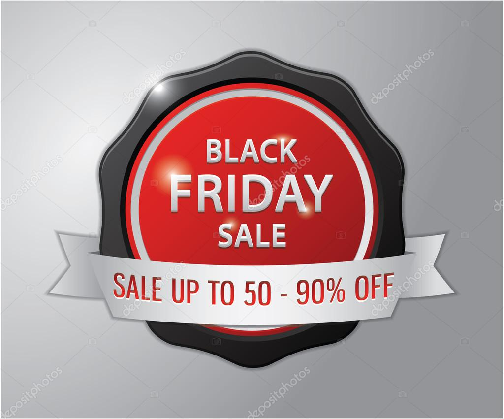 Black Friday Sale Badge Sale Up To 50 90 Off Stock Vector C Imazyreams 80007256