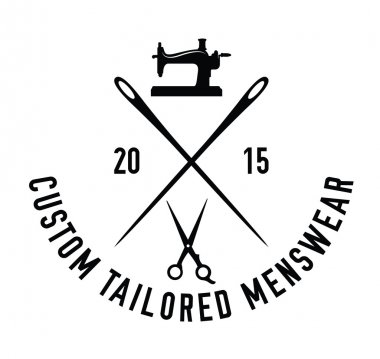 Custom tailored menswear : Sewing label badge