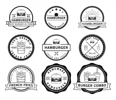 Burger,frenchfries & soft drink badge
