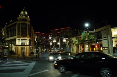 Rodeo Drive,and Via Rodeo at night