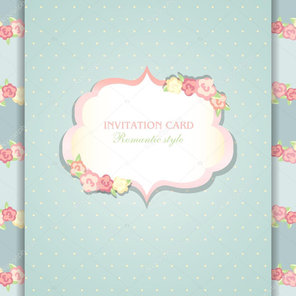 Floral Save the Date oder Hochzeitseinladung festlegen — Stockvektor ...