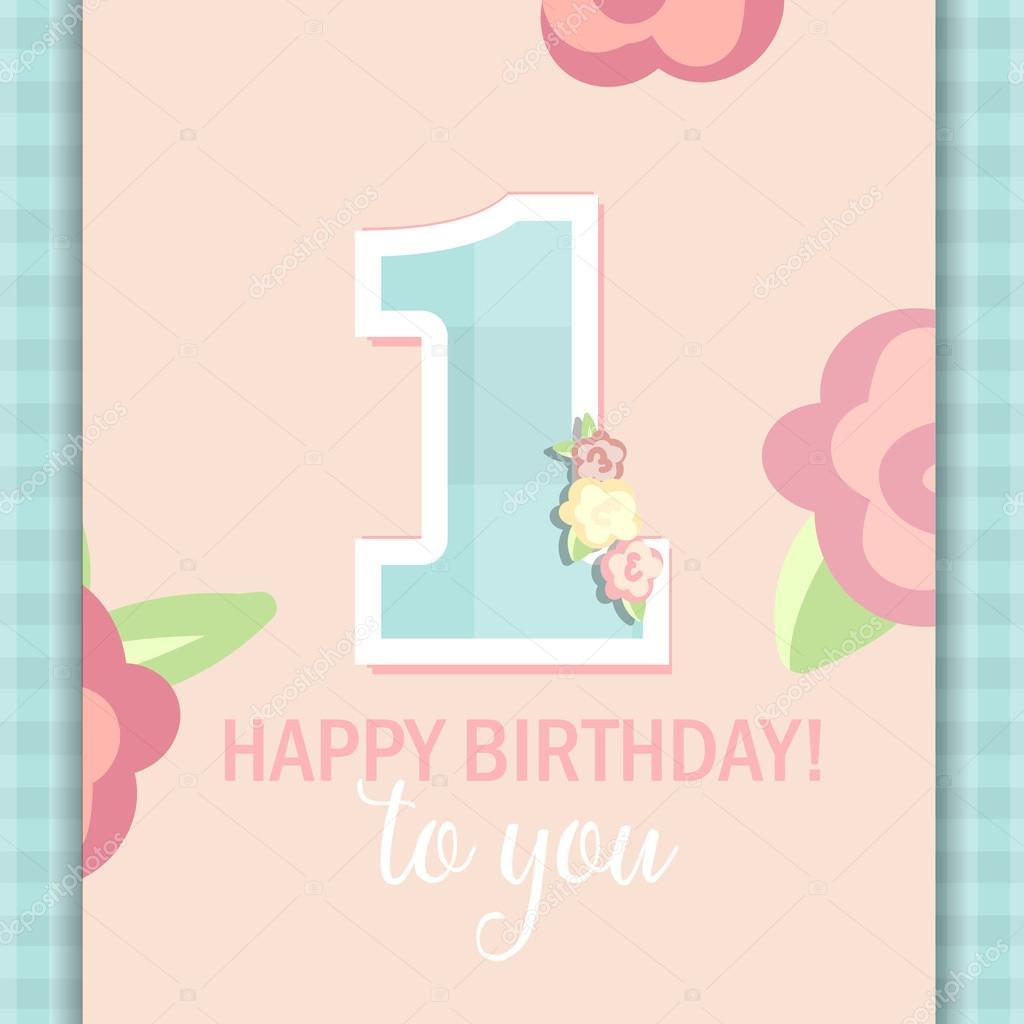 Happy Birthday Girl Illustration ~ Najlepsze yczenia urodzinowe dla dziewczyny rok grafika wektorowa � a almazova