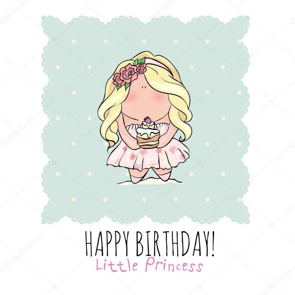 Carte D Anniversaire Joyeux Pour Fille Mignonne Petite Fille