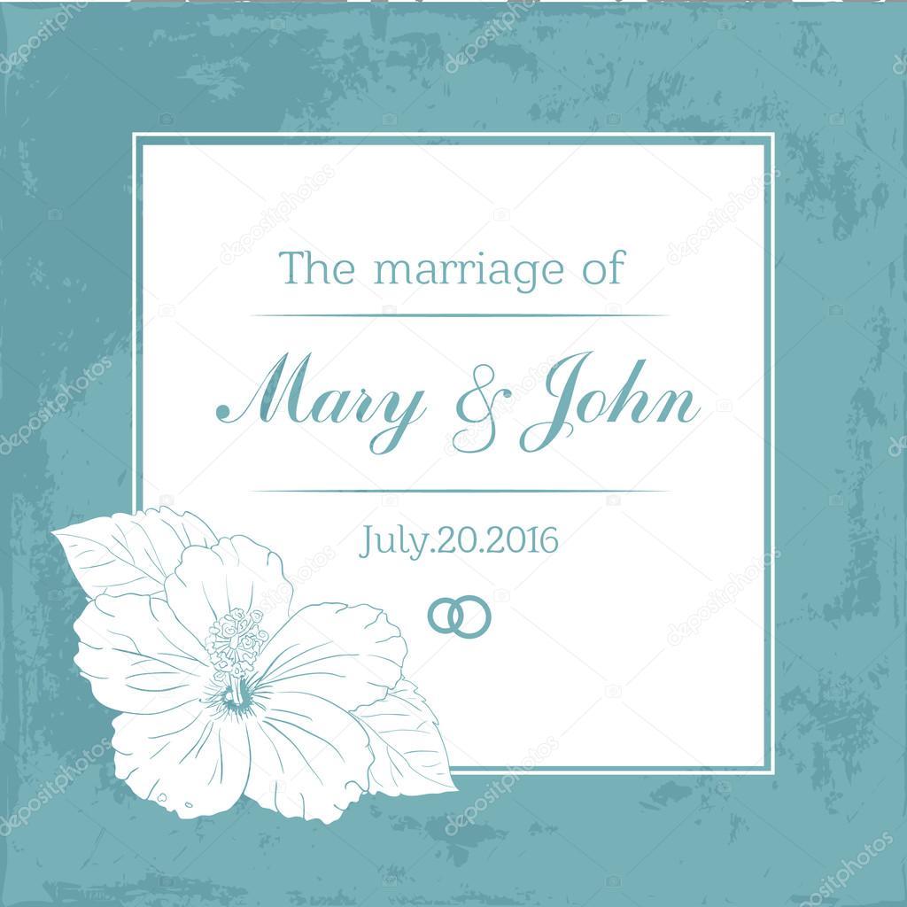 Ehe-Design-Vorlage mit benutzerdefinierten Namen in quadratischen ...