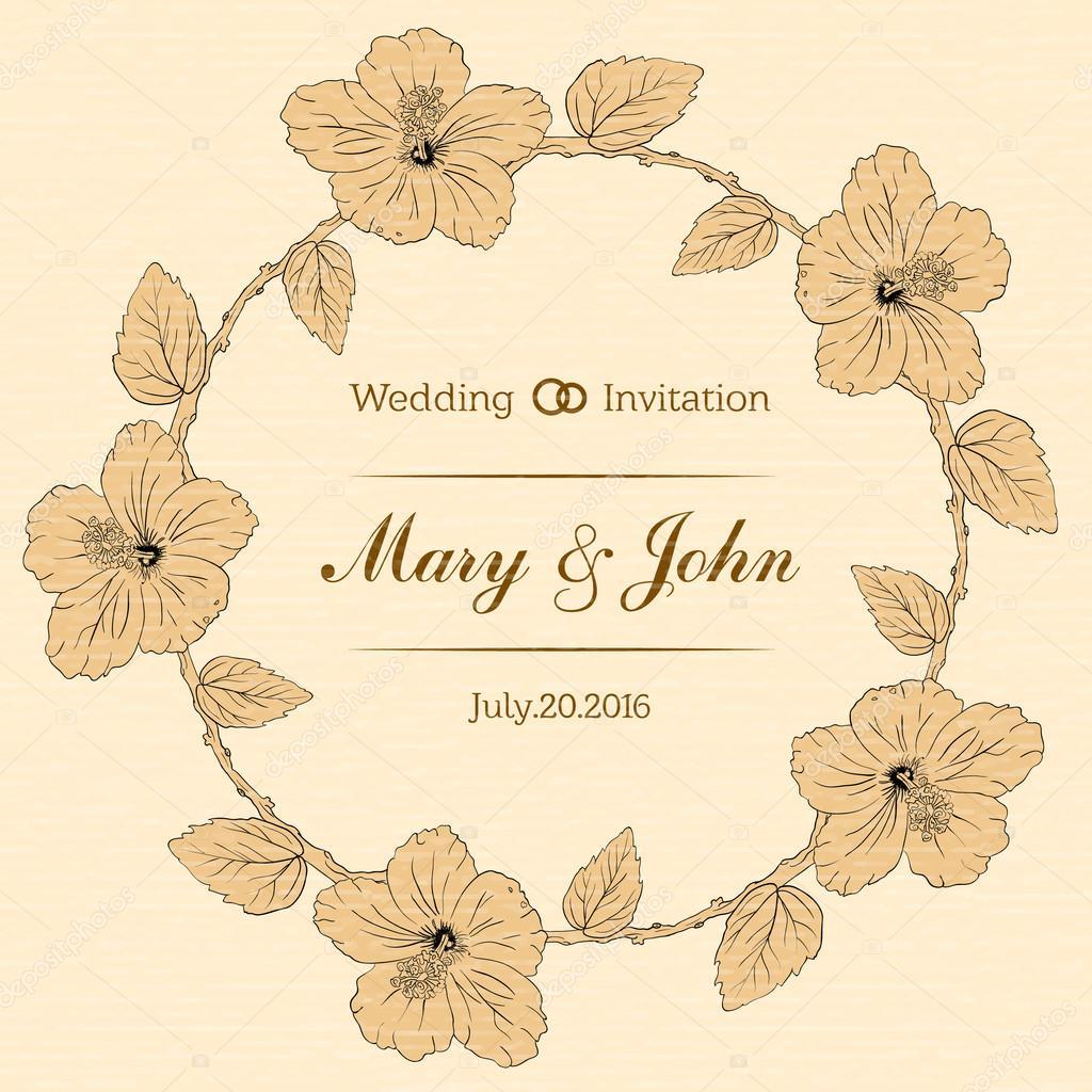 Ehe-Design-Vorlage mit benutzerdefinierten Namen in runden Rahmen ...