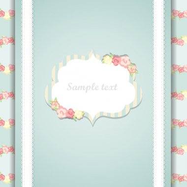 Cute blue and pink happy birthday card